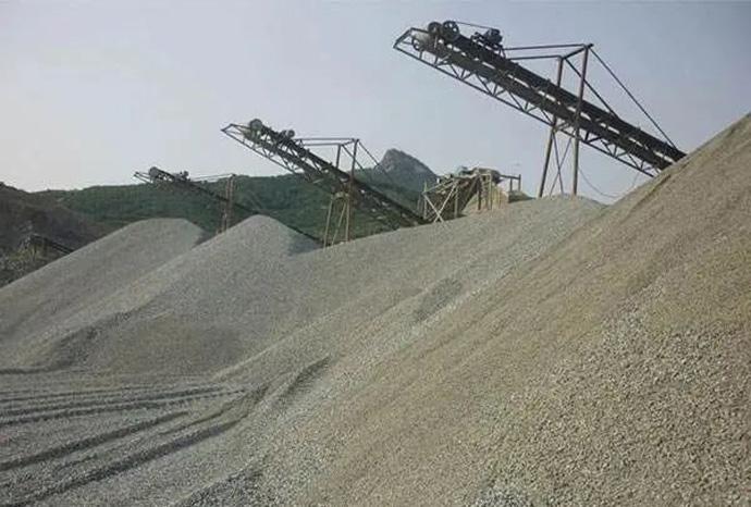 砂石骨料大规模生产现场